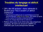 troubles du langage et d ficit intellectuel