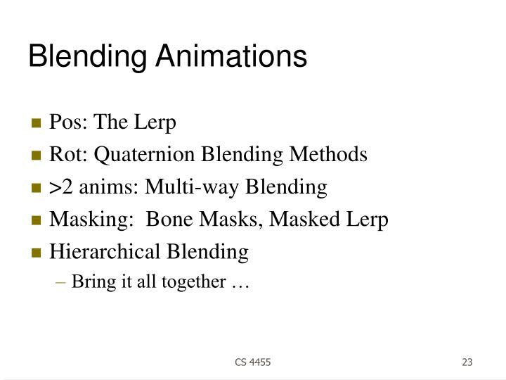 Blending Animations