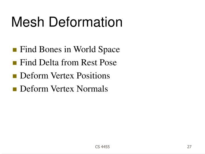 Mesh Deformation