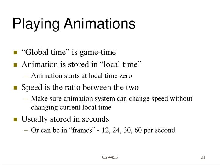 Playing Animations