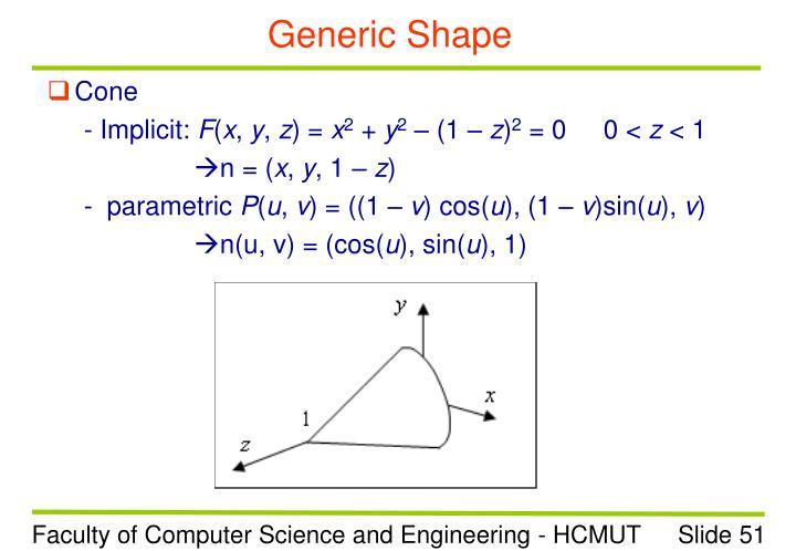 Generic Shape