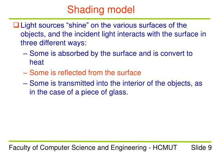 Shading model