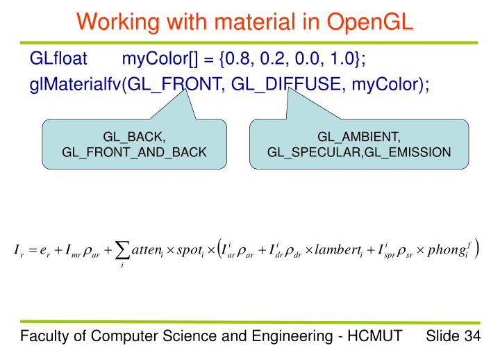 Working with material in OpenGL