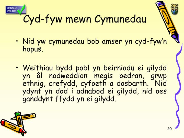 Cyd-fyw mewn Cymunedau