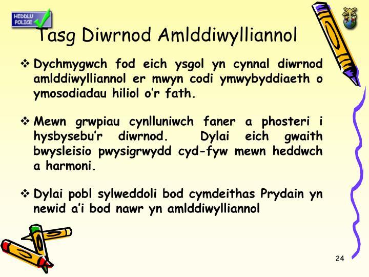 Tasg Diwrnod Amlddiwylliannol