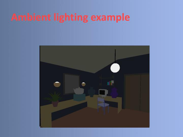 Ambient lighting example