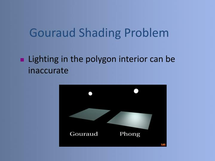 Gouraud Shading Problem