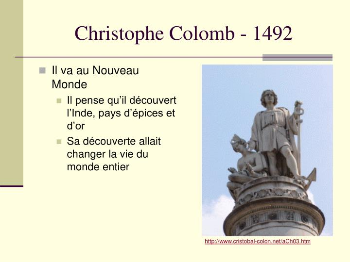 Christophe Colomb - 1492