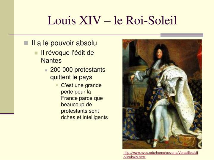 Louis XIV – le Roi-Soleil