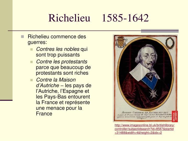 Richelieu    1585-1642