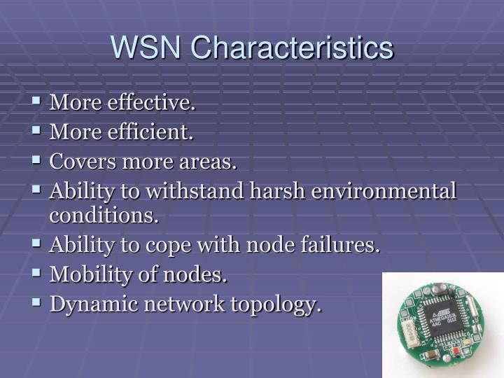 WSN Characteristics