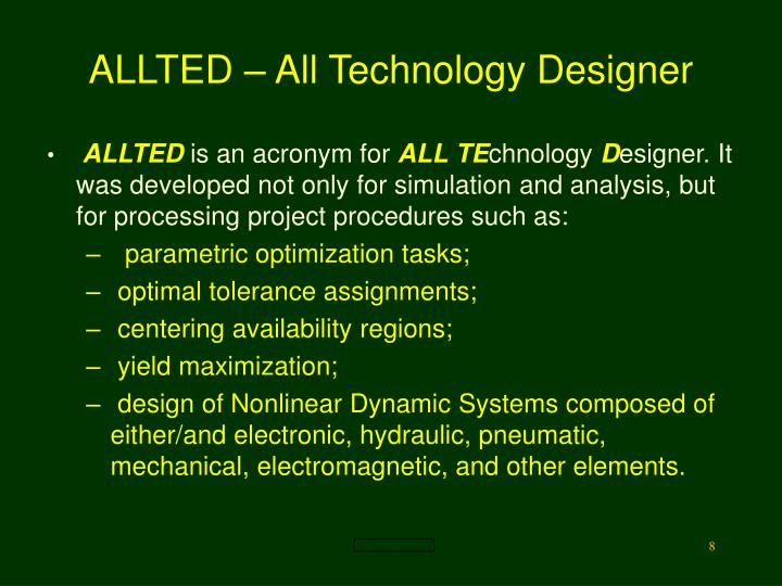 ALLTED – All Technology Designer