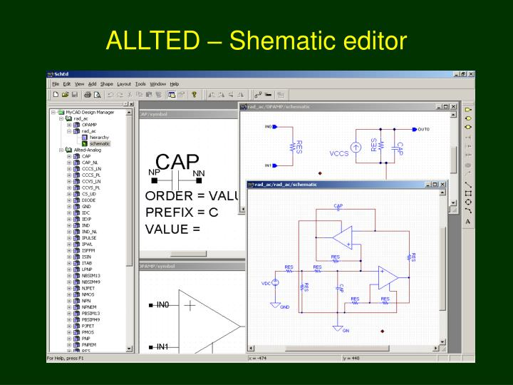 ALLTED – Shematic editor