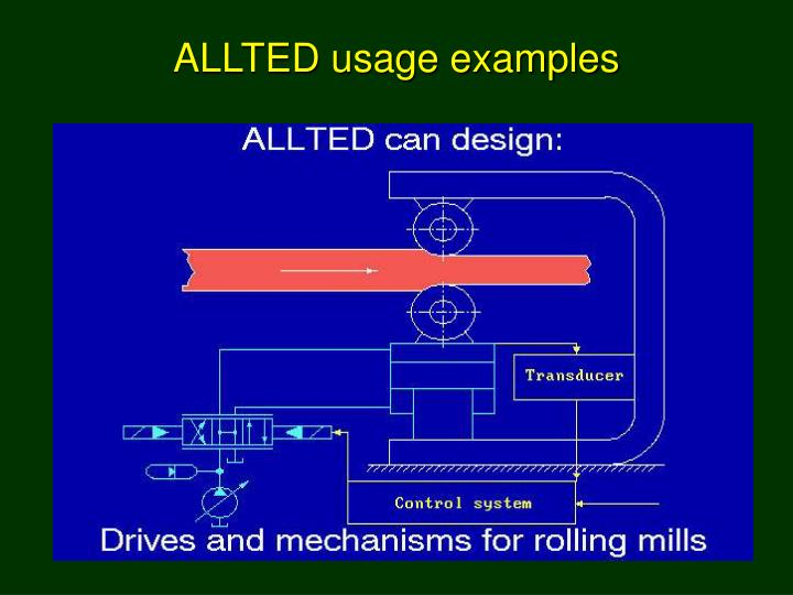 ALLTED usage examples