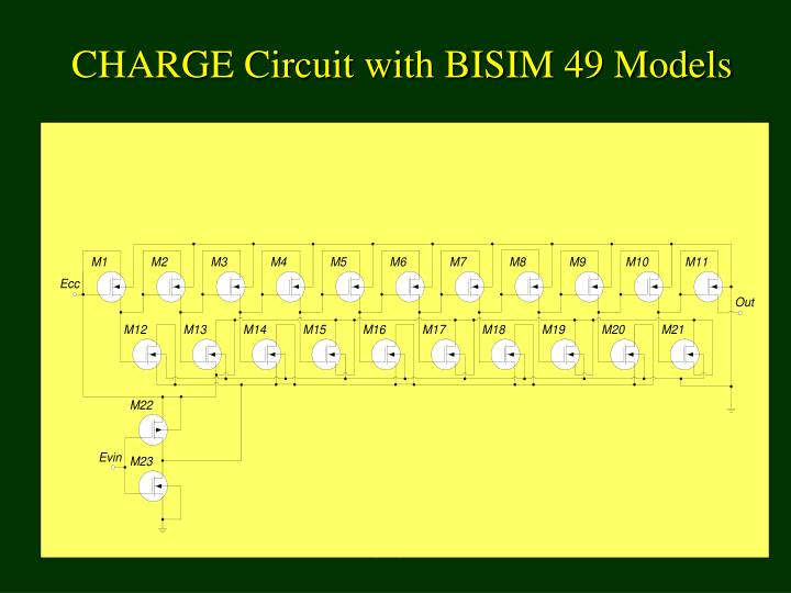 CHARGE Circuit with BISIM 49 Models
