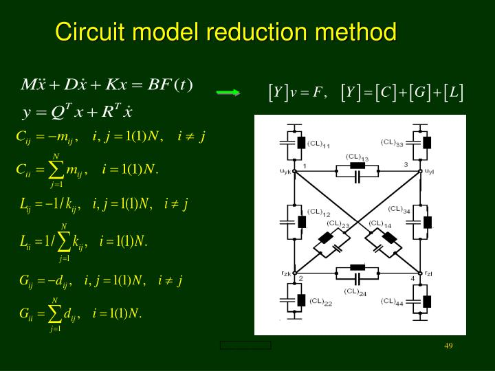 Circuit model reduction method