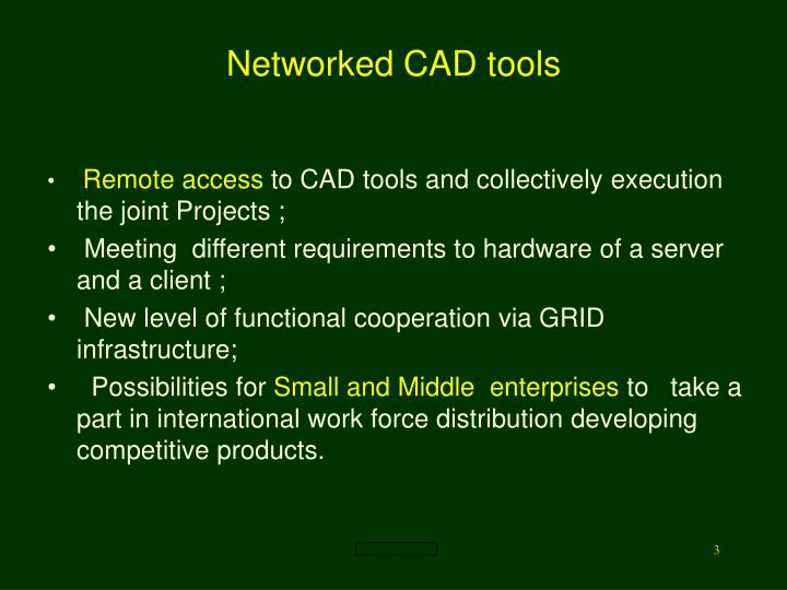 Networked CAD tools