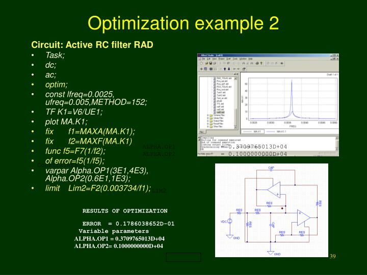 Optimization example 2