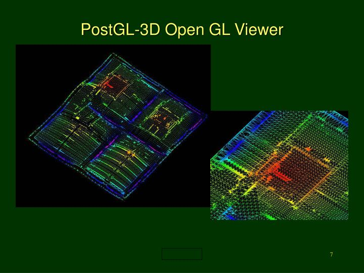 PostGL-3D Open GL Viewer