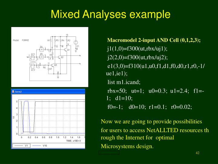 Mixed Analyses example