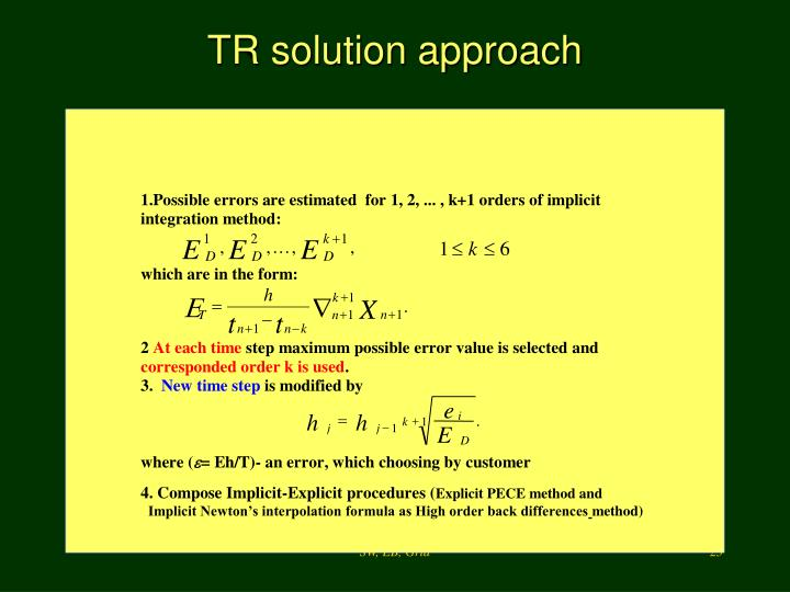 TR solution approach