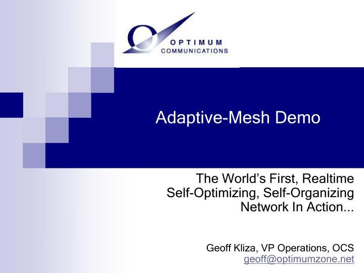 Adaptive-Mesh Demo