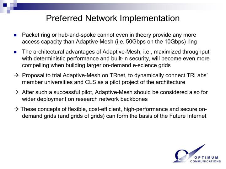 Preferred Network Implementation