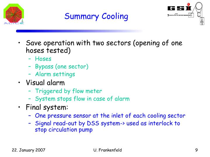 Summary Cooling
