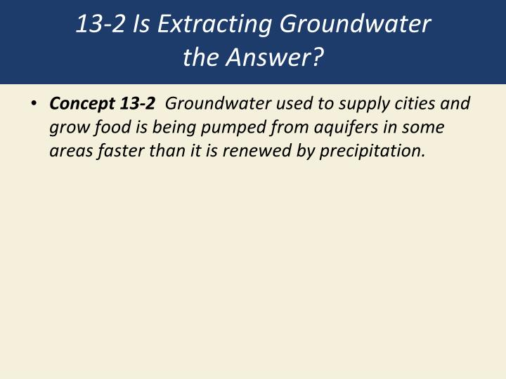 13-2 Is Extracting Groundwater