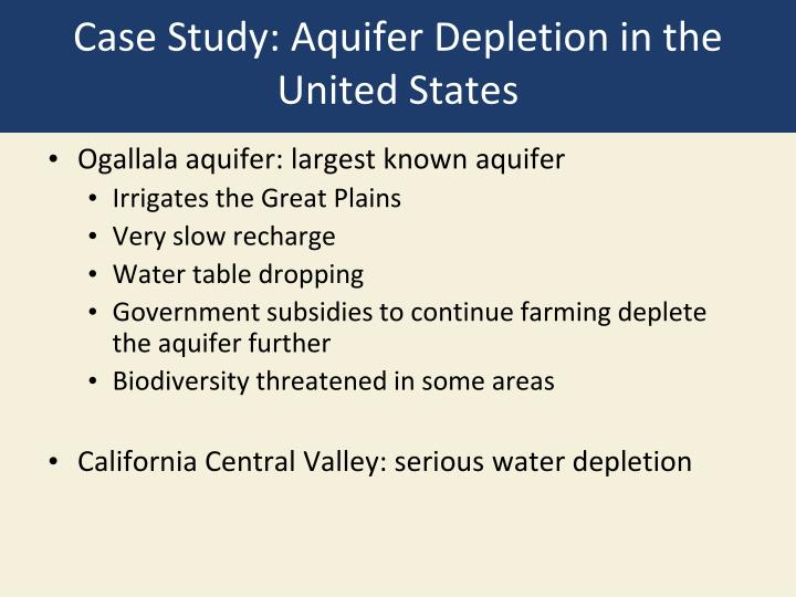 Case Study: Aquifer Depletion in the United States