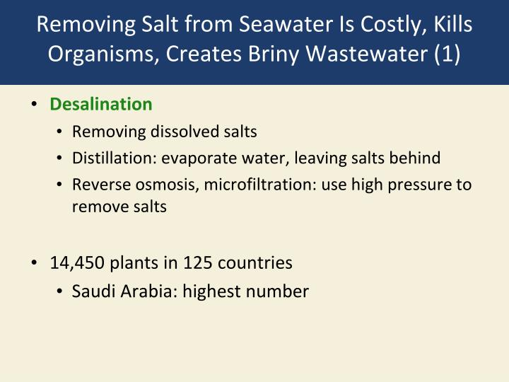 Removing Salt from Seawater Is Costly, Kills Organisms, Creates Briny Wastewater (1)