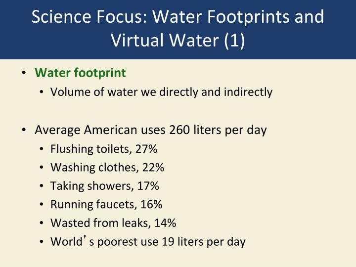 Science Focus: Water Footprints and Virtual Water (1)
