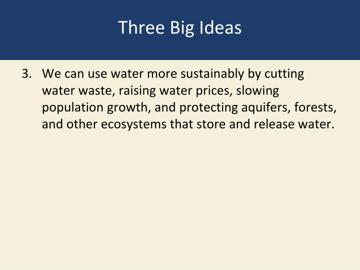 Three Big Ideas