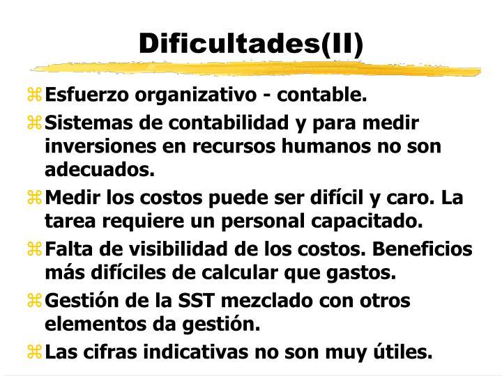 Dificultades(II)