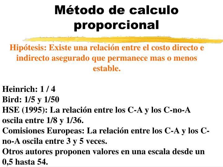Método de calculo proporcional