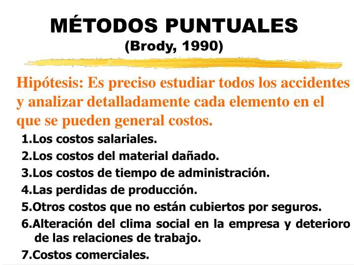 MÉTODOS PUNTUALES