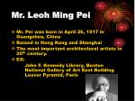 mr leoh ming pei
