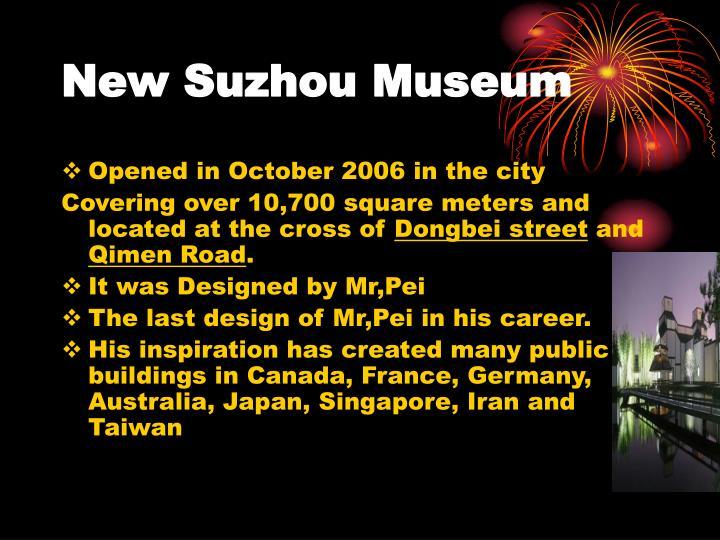 New Suzhou Museum
