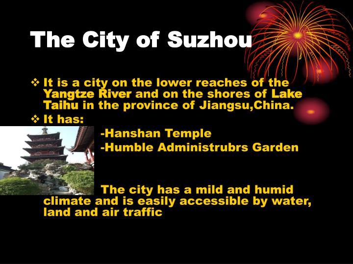 The City of Suzhou