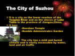 the city of suzhou