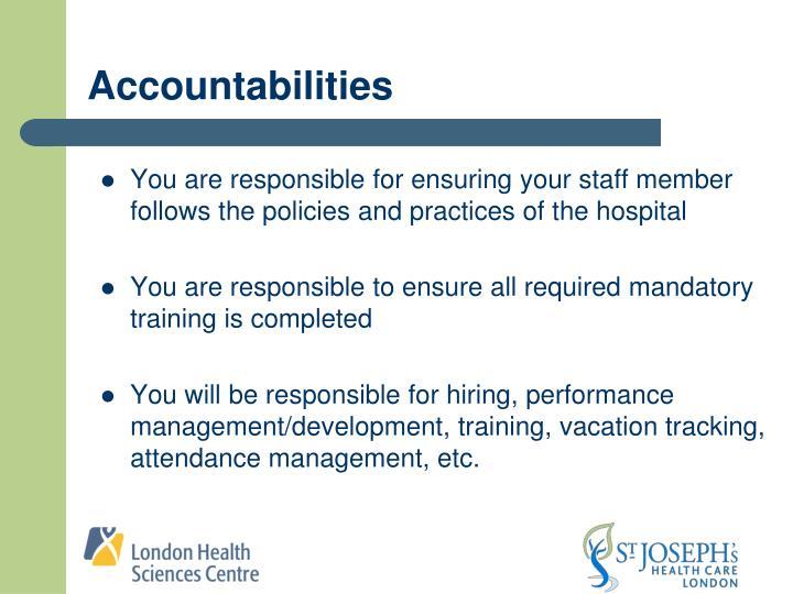 Accountabilities