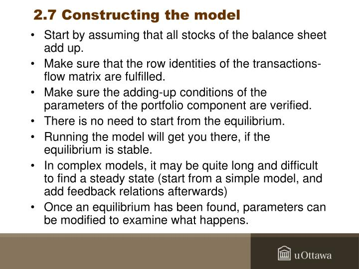 2.7 Constructing the model