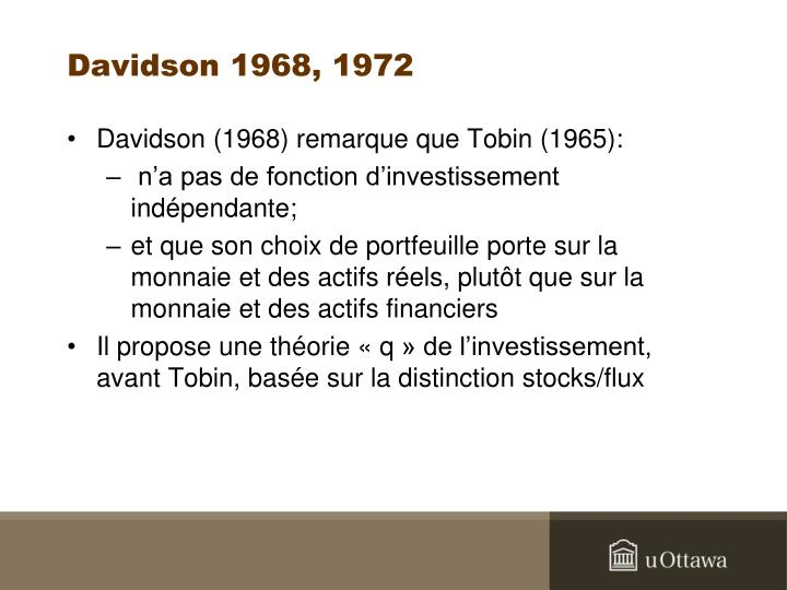 Davidson 1968, 1972