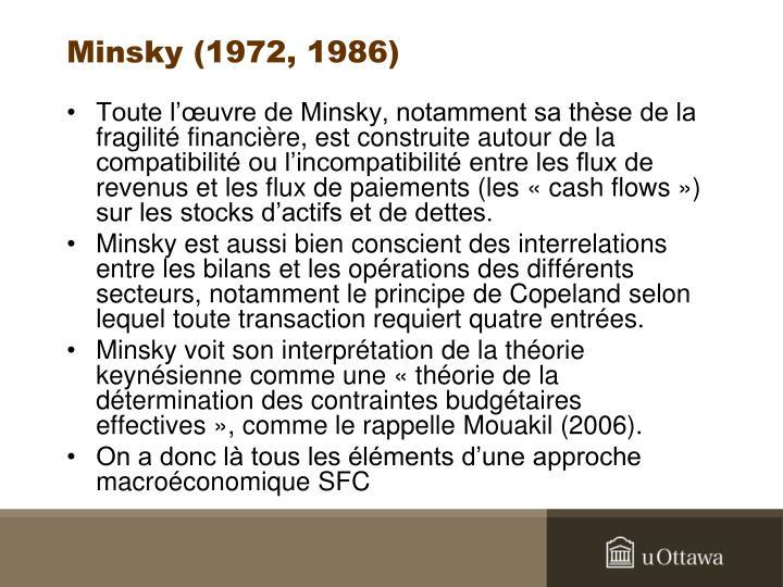Minsky (1972, 1986)