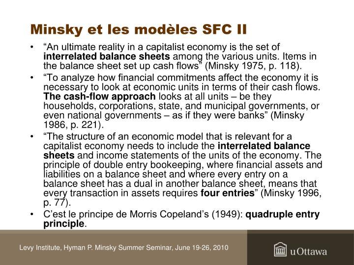 Minsky et les modèles SFC I