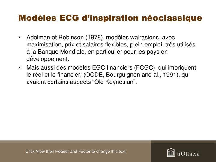Modèles ECG d'inspiration néoclassique
