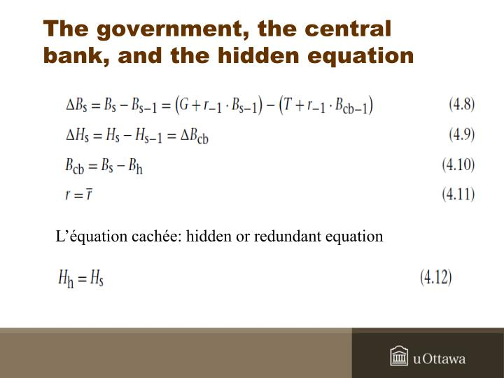 The government, the central bank, and the hidden equation