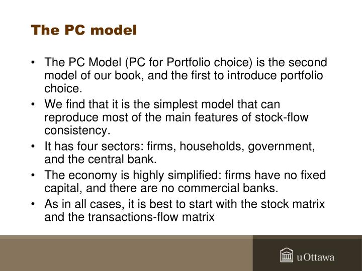 The PC model