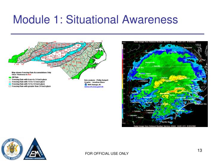 Module 1: Situational Awareness