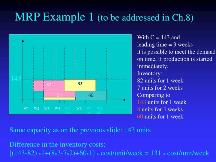 MRP Example 1